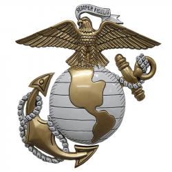 usmc ega eagle globe and anchor plaque painted