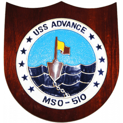 uss advance presentation plaque