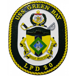 uss green bay plaque