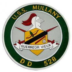 uss mullany ships plaque