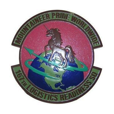 167th Logistics Readiness Squadron Subdued Seal Plaque