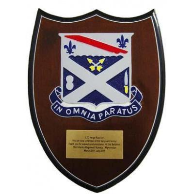 2-18 Infantry Presentation Plaque