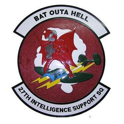 27th Intelligence Squadron Patch Plaque