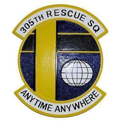 305th Rescue Squadron Plaque