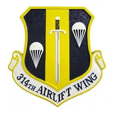 314th Airlift Wing Plaque