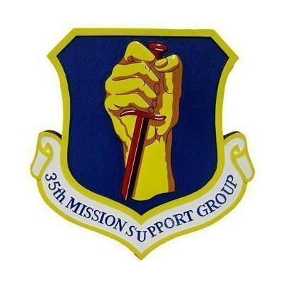 35th Squadron Mission Support Plaque