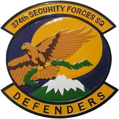 374th Security Forces Squadron Plaque