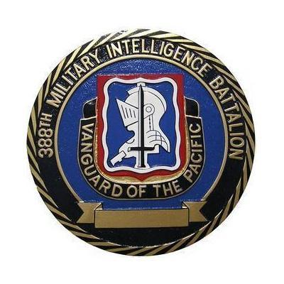 388th Military Intelligence Battalion Seal Plaque