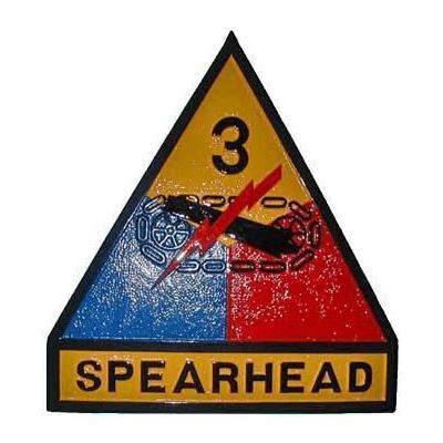 3rd Armored Division Spearhead Patch Plaque