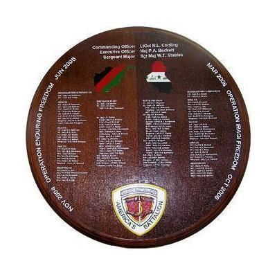 3rd Battalion 3rd Marines Deployment Plaque