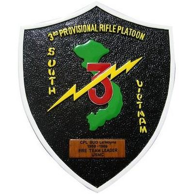 3rd provisional rifle platoon seal plaque