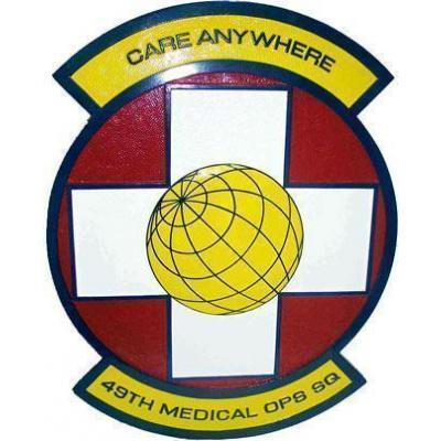 49th Medical Operations Squadron Plaque
