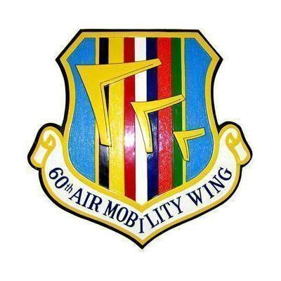 60th Air Mobility Wing Crest Plaque