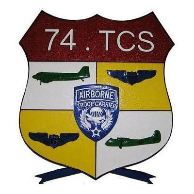 74th Troop Carrier Seal Plaque
