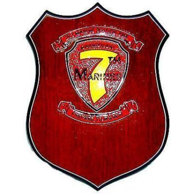 7th Marine Regiment Patch Plaque
