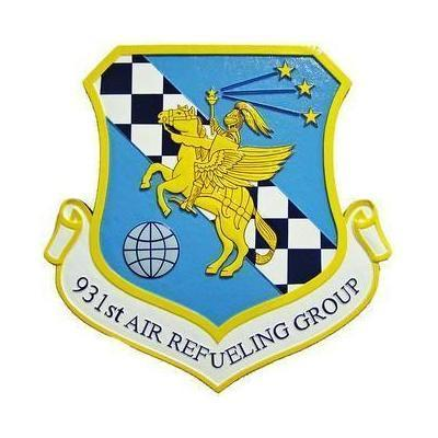 931st Air Refueling Group 1 Seal Plaque
