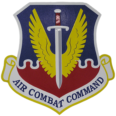 Air Combat Command Seal Plaque
