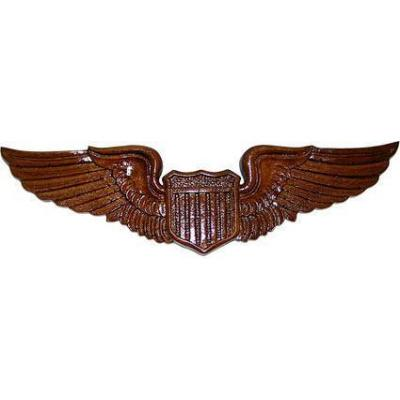Aviator Wings Insignia Badge Plaque