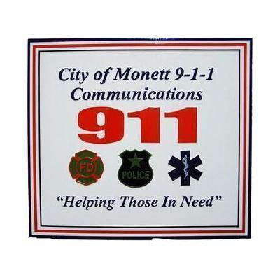 City of Monett Emergency Services Plaque