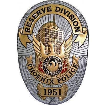 City of Phoenix Police Reserve Division Badge Plaque
