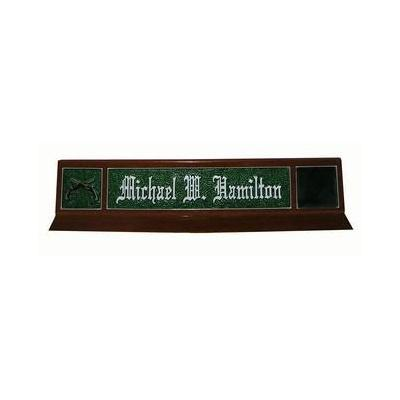 Classic Design Green Desk Nameplate