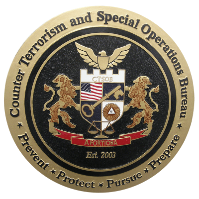 Counter-Terrorism and Special Operations Bureau Plaque