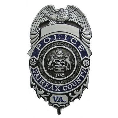 Fairfax Police County Badge Plaque