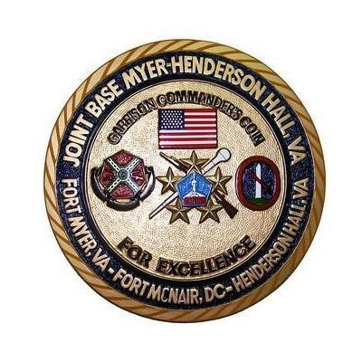 Garrison Commanders Coin Seal Plaque
