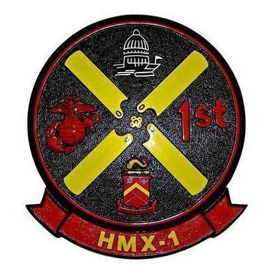 HMX-1 Patch Plaque Marine Helicopter Squadron One Patch Plaque