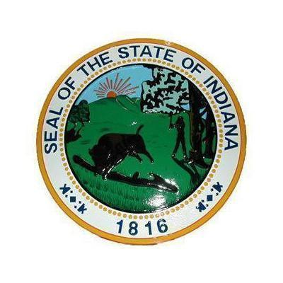 Indiana State Seal Plaque