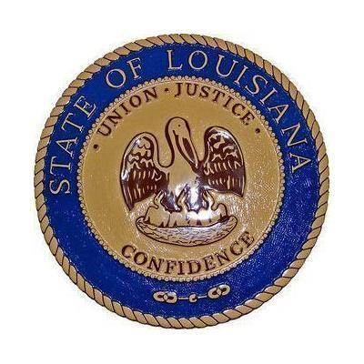 Louisiana State Seal Plaque