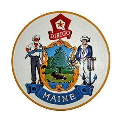 Maine State Seal Plaque