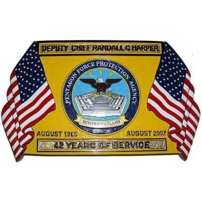 Military Retirement Plaque