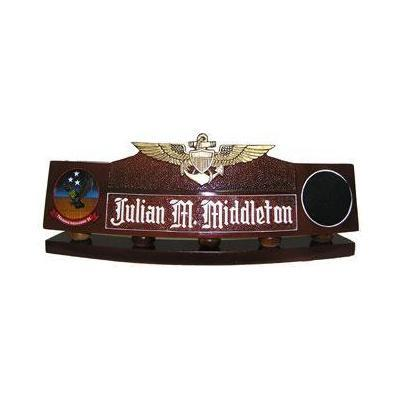Navy Flight Wing Desk Nameplate