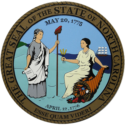 North Carolina State Seal Plaque