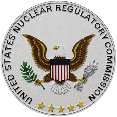 Nuclear Regulatory Commission Seal Plaque