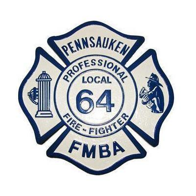 Pennsauken FMBA Firefighter Plaque