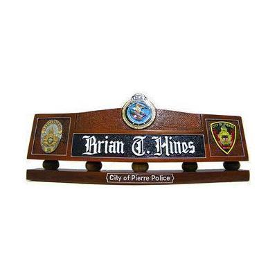 Police Badge Desk Nameplate