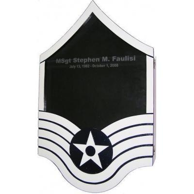 Shadow Box US Air Force E7 Painted Finish