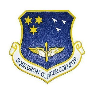 Squadron Officer College Crest Plaque