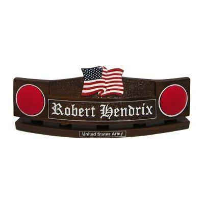 Stars and Stripes US Flag Design1 Desk Nameplate