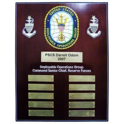 USCG Deployable Operations Group Command Senior Chief Reserve Forces Deployment Plaque
