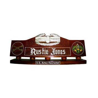 US Army Combat Action Badge Desk Name Plate
