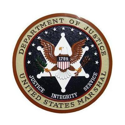 US Marshal Department of Justice Seal Plaque