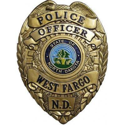 West Fargo PoliceDepartment Badge Plaque