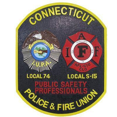 connecticut police and fire union cpfu custom-made plaque2 55547954