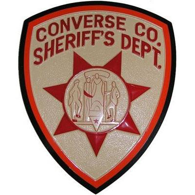 converse county sheriffs office patch plaque