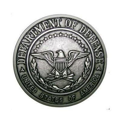 department of defense seal coin plaque