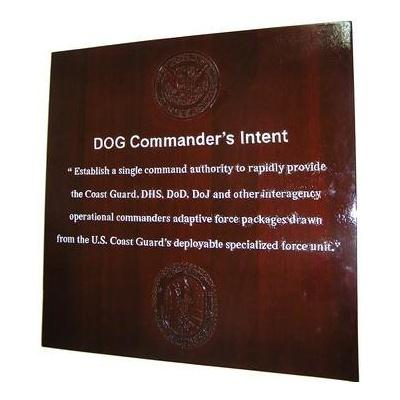 deployable operations group commanders intent coast guard deployment plaque
