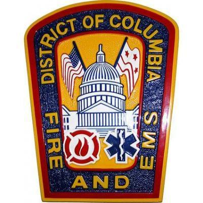 district of columbia fire and ems seal plaque